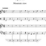 Opus 10 - Mountain View : Sheet Music