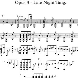 Opus 3 – Late Night Tango : Sheet Music