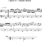 Opus 9 - Snake Waltz : Sheet Music