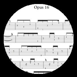 Opus 16 : Tablature