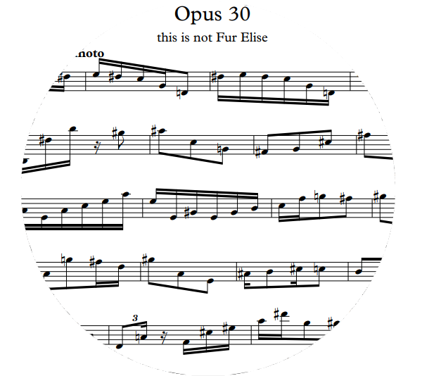 Opus 30 This Is Not Fur Elise Sheet Music