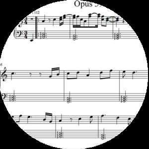 Opus 14, No  2 : Tablature – John Trie