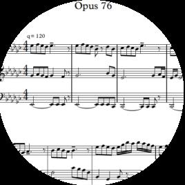 Opus 76 – To Aiga Paliepa : Sheet Music